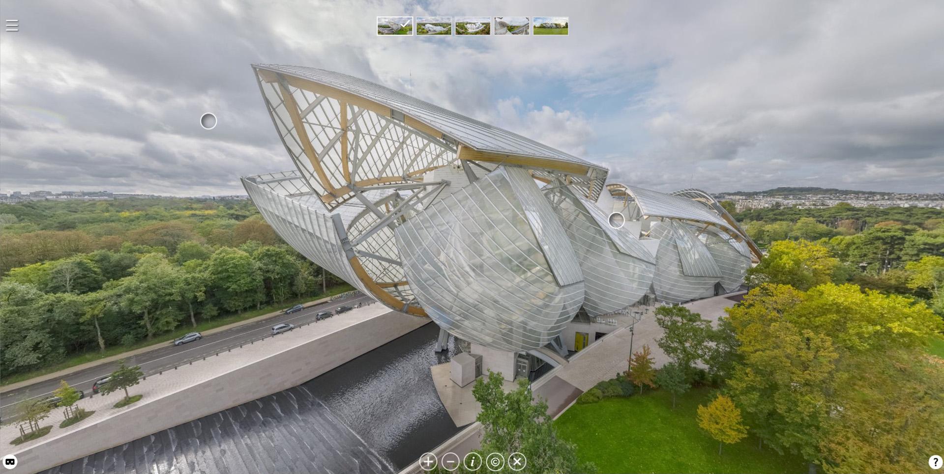 Visite virtuelle drone : Fondation Louis Vuitton