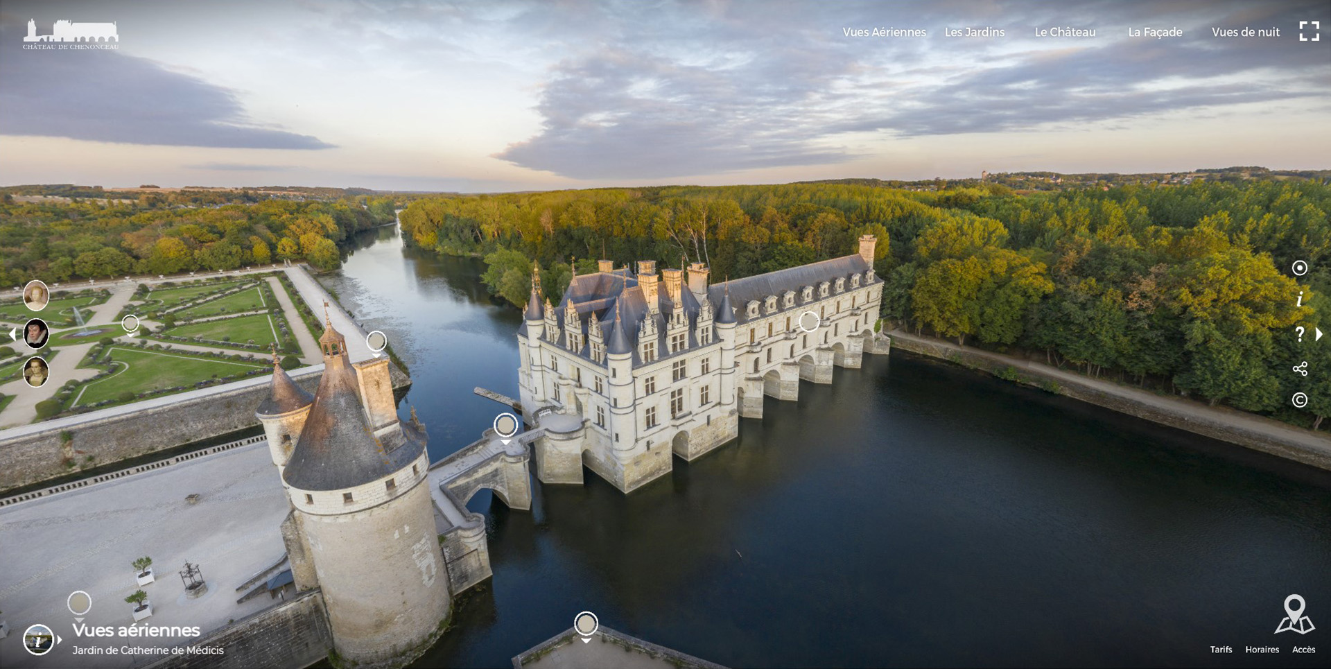 Visite virtuelle : Château de Chenonceau