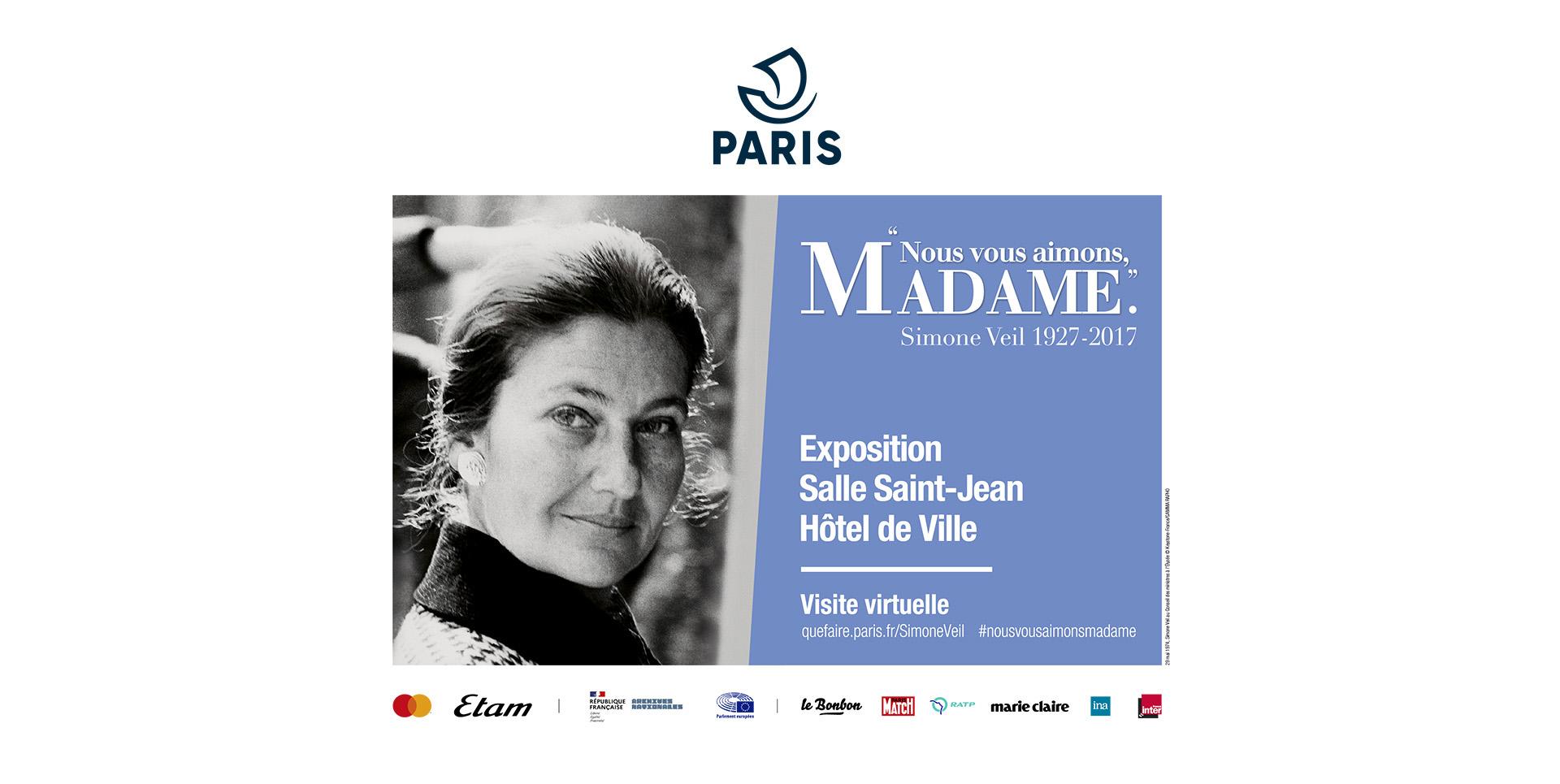 Visite virtuelle : exposition Simone Veil